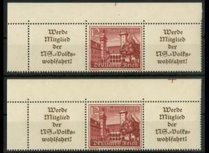 Dt. Reich, W 141 EOL 2 (2), postfrisch, Bogenecken, Michel-Handbuch 150,-(16881)