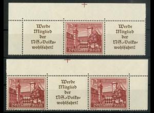 Dt. Reich, W 141 EOL 2 + W 143 EOR 2, postfrisch, Michel-Handbuch 150,- (16896)