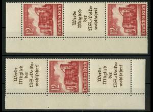 Dt. Reich, S 263 EOL 1 + S 265 EUL 1, postfrisch, Michel-Handbuch 140,- (16900)