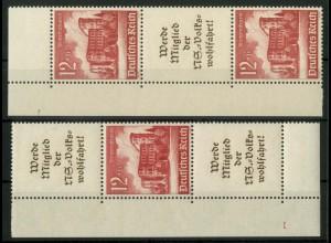 Dt. Reich, S 263 EOL 3 + S 265 EUL 3, postfr., Pl.-Nr., Mi.-Handb. 200,- (16942)