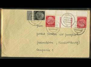Dt. Reich, KZ 23.2 OR 3, portoger. Auslands-Brief, Michel-Handbuch 70,- (17220)