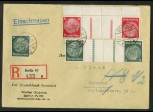 Dt. Reich, KZ 23.2 OR 3 + KZ 22.2, portoger., Michel-Handbuch 78,- (17225)