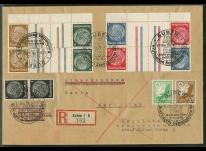 Dt. Reich, KZ 27.1 OR + 3 Zd., R-Brief, Michel-Handbuch 50,- (17314)