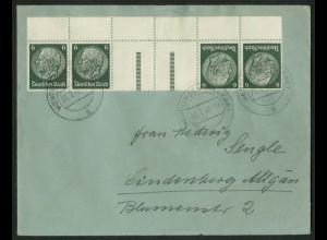 Dt. Reich, KZ 22.4 OR, portogerecht, Michel-Handbuch 90,- (17406)