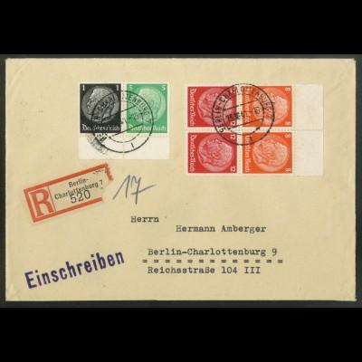 Dt. Reich, S 201 OR (2) + W 71 UR, portogerecht, Michel-Handbuch 69,- (17534)