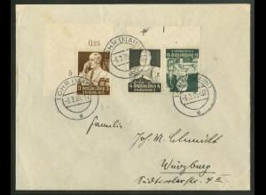 Dt. Reich, K 23 OR 1, mit Passerkreuz, Fern-Brief, Michel-Handbuch 55,- (17659)