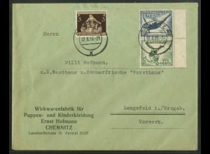 Dt. Reich, SK 27 RR, Fern-Brief, Michel-Handbuch 45,- (17749)