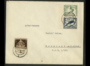 Dt. Reich, SK 27 RR, Fern-Brief, Michel-Handbuch 45,- (17750)
