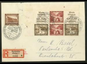 Dt. Reich, W 112 EOL 2 + W 116 LR, portogerecht, Michel-Handbuch 110,- (17813)