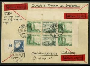 Dt. Reich, W 126 EOR 2 + W 126 RR, portogerecht, Michel-Handbuch 50,- (17829)