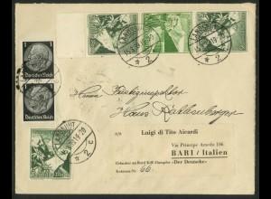 Dt. Reich, S 248 UR, portogerechter Auslands-Brief (17839)