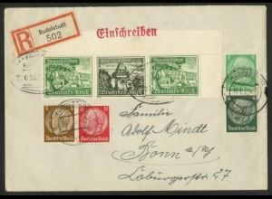 Dt. Reich, W 139 EOR 1 + 2 Zd., portogerecht, Michel-Handbuch 65,- (17867)