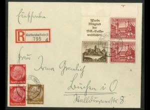 Dt. Reich, W 140 OR 2 + W 144, portogerecht, Michel-Handbuch 44,- (17868)