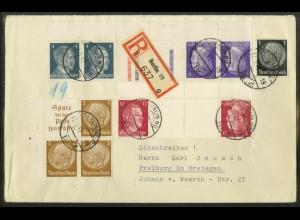 Dt. Reich, KZ 39 OR + 2 Zd., portogerecht, Michel-Handbuch 45,- (17897)