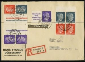 Dt. Reich, KZ 40.2 + 4 Zd., portogerecht, Michel-Handbuch 54,- (17899)