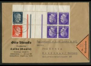 Dt. Reich, KZ 38 UR + KZ 39 OR + KZ 40, portoger., Michel-Handbuch 49,- (17900)