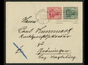 Dt. Reich, S 4 II, portogerechte Einzelfrankatur, Mi.-Handbuch 180,- (17940)