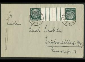 Dt. Reich, KZ 18, portogerechte Einzelfrankatur, Mi.-Handbuch 150,- (18007)