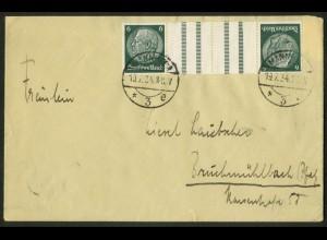 Dt. Reich, KZ 18, portogerechte Einzelfrankatur, Mi.-Handbuch 150,- (18008)