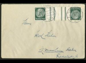 Dt. Reich, KZ 18, portogerechte Einzelfrankatur, Mi.-Handbuch 150,- (18010)