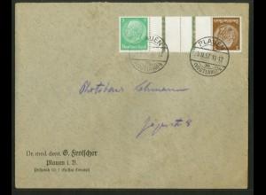 Dt. Reich, KZ 25.2, portogerechte Einzelfrankatur, Mi.-Handbuch 45,- (18091)
