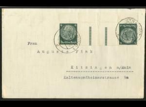 Dt. Reich, KZ 22.4 OR, portogerechte Einzelfrankatur, Mi.-Handbuch 55,- (18189)