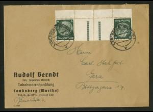 Dt. Reich, KZ 22.5 OR, portogerechte Einzelfrankatur, Mi.-Handbuch 55,- (18223)