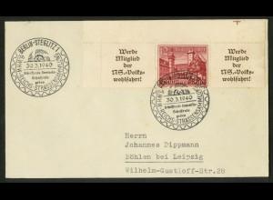 Dt. Reich, W 141 EOL 2, portogerechte Einzelfrankatur, Mi.-Handbuch 160,-(18313)