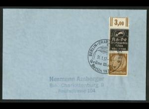 Dt. Reich, P-S 3 OR, portogerechte Einzelfrankatur, Mi.-Handbuch 75,- (18348)