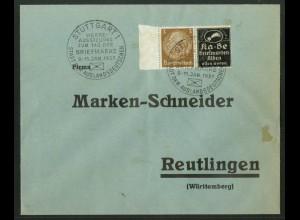 Dt. Reich, P-W 5, portogerechte Einzelfrankatur, Mi.-Handbuch 50,- (18350)