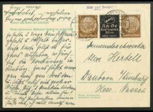 Dt. Reich, P-W 6, portogerechte Einzelfrankatur, Mi.-Handbuch 75,- (18351)