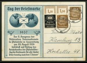 Dt. Reich, P-W 3 OR, portogerecht, Mi.-Handbuch 75,- (18359)