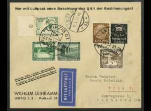 Dt. Reich, P-W 1 + W 119, Luftpost Ausland (18360)