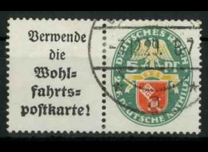 Dt. Reich, W 34 PF I, Plattenfehler, gestempelt, Mi.-Handbuch 150,- (18404)