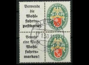 Dt. Reich, W 34 PF I + W 35, Plattenfehler, gest., Mi.-Handbuch 210,- (18405)
