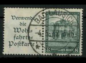 Dt. Reich, W 40 PF I, Plattenfehler, gestempelt, Mi.-Handbuch 200,- (18425)