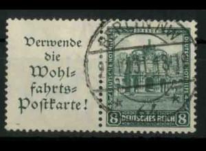 Dt. Reich, W 40 PF I, Plattenfehler, gestempelt, Mi.-Handbuch 200,- (18428)