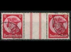 Dt. Reich, WZ 10 PF I, Plattenfehler, gestempelt, Mi.-Handbuch 300,- (18517)