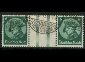 Dt. Reich, WZ 9 PF I, Plattenfehler, gestempelt, Mi.-Handbuch 150,- (18530)