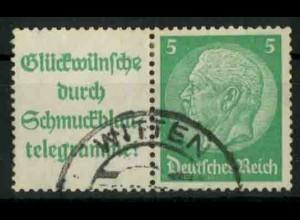 Dt. Reich, W 88 PF II, Plattenfehler, gestempelt, Mi.-Handbuch 80,- (18727)