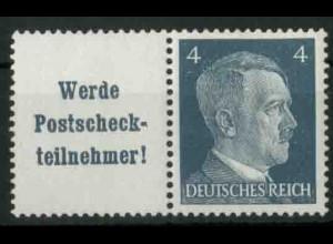 Dt. Reich, W 152 PF I, Plattenfehler, postfrisch, Mi.-Handbuch 100,- (18755)