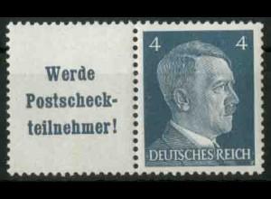 Dt. Reich, W 152 PF I, Plattenfehler, postfrisch, Mi.-Handbuch 100,- (18756)