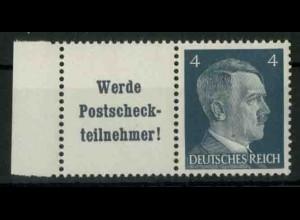 Dt. Reich, W 152 PF I, Plattenfehler, postfrisch, Mi.-Handbuch 100,- (18759)