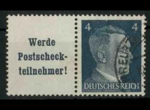 Dt. Reich, W 152 PF I, Plattenfehler, gestempelt, Mi.-Handbuch 100,- (18762)