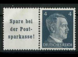 Dt. Reich, W 151 PF I, Plattenfehler, postfr., Mi.-Handbuch 80,- (18770)