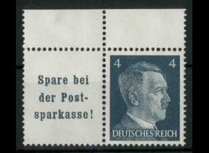 Dt. Reich, W 151 PF I, Plattenfehler, postfr., Mi.-Handbuch 80,- (18773)