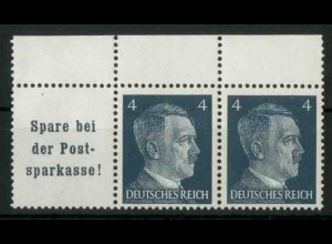 Dt. Reich, W 151 PF I, Plattenfehler, postfr., Mi.-Handbuch 80,- (18774)