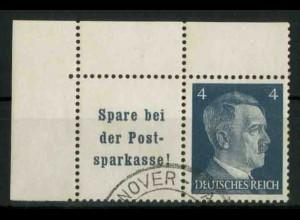 Dt. Reich, W 151 PF I (EOL), Plattenfehler, gest., Mi.-Handbuch 80,- (18779)