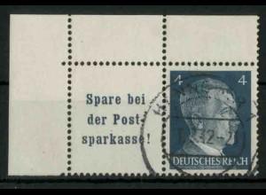 Dt. Reich, W 151 PF I (EOL), Plattenfehler, gest., Mi.-Handbuch 80,- (18780)