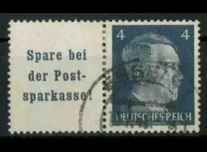 Dt. Reich, W 151 PF I, Plattenfehler, gest., Mi.-Handbuch 80,- (18783)